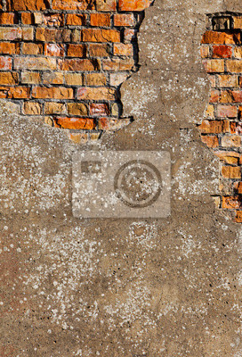 Carta Da Parati Mattoni Rossi.Vecchio Intonaco Su Un Muro Di Mattoni Rossi Carta Da Parati
