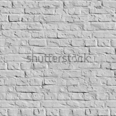 Carta da parati Vecchio muro di mattoni bianchi. Trama piastrellabile senza soluzione di continuità.