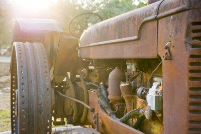 Carta da parati Vecchio trattore agricolo