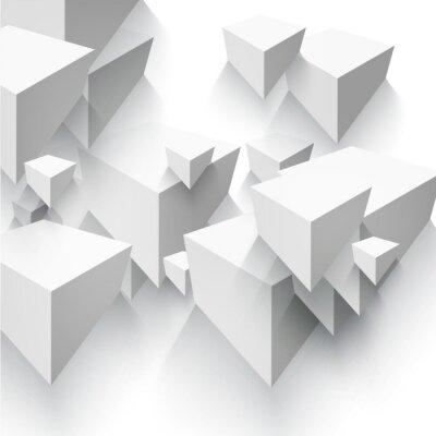 Carta da parati Vector Abstract forma geometrica da cubi grigi.