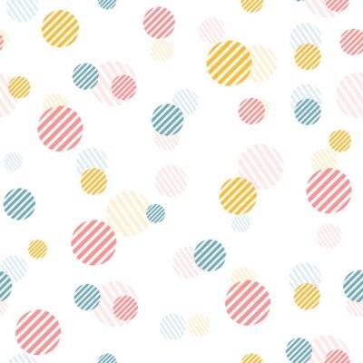 Carta da parati Vector delicato seamless vintage con puntini colorati.