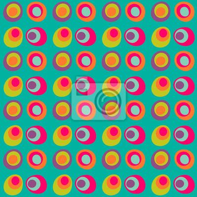 Vector Dotted Cerchio Senza Soluzione Di Modello Multi Colorato