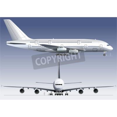 Carta da parati Vector double-deck Lagest Jetliner A380