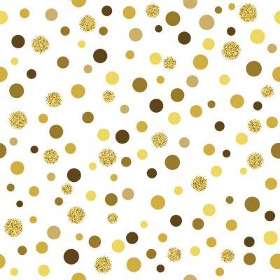 Carta da parati Vector glitter oro seamless