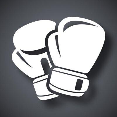 Carta da parati Vector guantoni da boxe icona