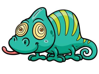 Carta da parati Vector illustration of Cartoon Chameleon