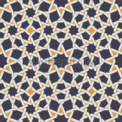 Carta da parati Vector la linea di stella è senza cuciture nel fondo astratto giallo e blu del modello geometrico