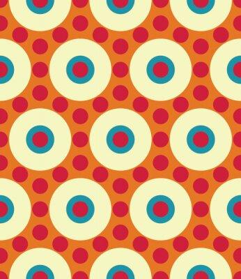 Carta da parati Vector modello moderno senza soluzione di continuità colorato cerchio geometria, colore di sfondo astratto geometrica, cuscino di stampa multicolore, retro tessitura, design di moda pantaloni a vita b