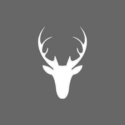 Carta da parati Vector natale icona di testa di cervo