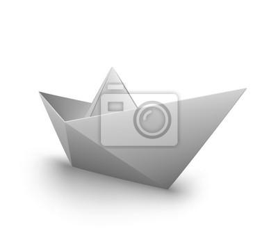 Vector Origami Barchetta Di Carta Carta Da Parati Carte Da Parati