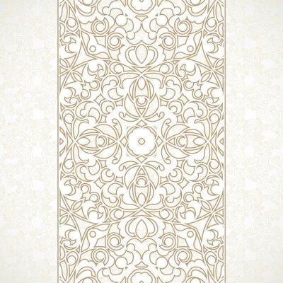 Carta da parati Vector ornato confine senza soluzione di continuità in stile orientale.