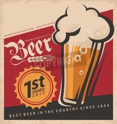 Carta da parati vector poster Retro birra