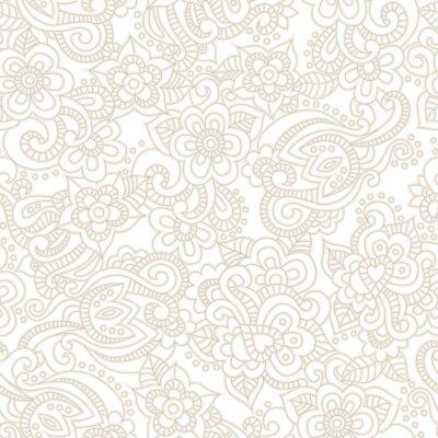 Carta da parati Vector seamless con sfondo romantico floreale