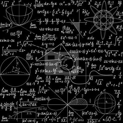8bd2eb699a Carta da parati: Vector seamless matematica con formule scritte a mano, i  calcoli