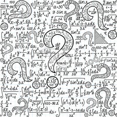5f53368e9d Carta da parati: Vector seamless matematica con molti punti interrogativi e  altri