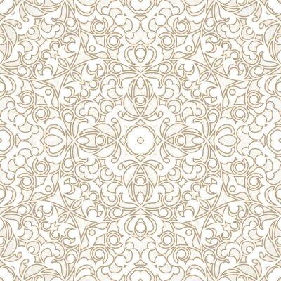 Carta da parati Vector seamless pattern in stile orientale.