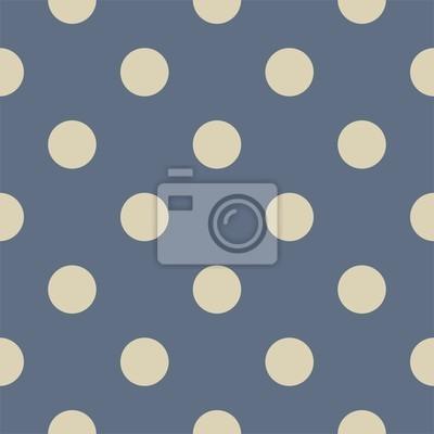 Vector Seamless Pattern Pois Beige Sfondo Blu Navy Carta Da Parati
