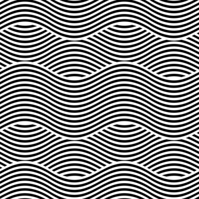 Carta da parati Vector seamless texture. sfondo geometrico moderno. Ripetendo il modello con linee ondulate.