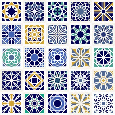 Carta da parati Vector Set di motivi geometrici