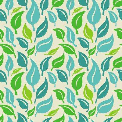 Carta da parati Vector sfondo trasparente con foglie verdi e blu