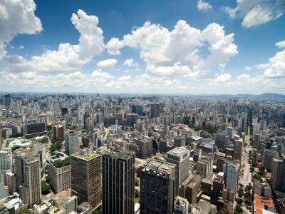 Carta da parati Veduta aerea di Anhangabau Valley, San Paolo, Brasile