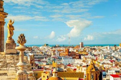 Carta da parati Veduta aerea di Cadice, Spagna