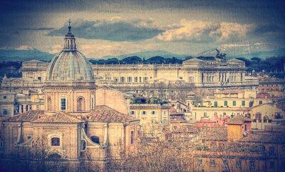 Carta da parati Veduta di Roma. Retro foto tonica