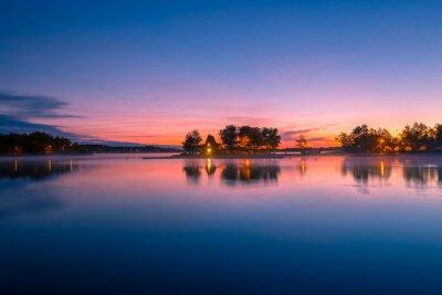 Carta da parati Veduta di una cabina in riva al lago di Ontario Canada