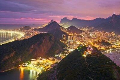 Carta da parati Veduta notturna di Rio de Janeiro, Brasile