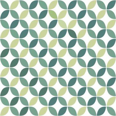 Carta da parati Verde geometrico Retro Seamless Pattern