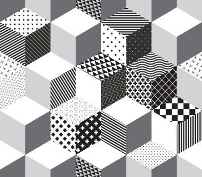 Carta da parati Vettore cubi 3d modello