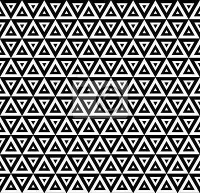 Carta Da Parati Moderna Texture.Vettore Moderno Seamless Triangoli Stampa Tessile Concentrici Carta