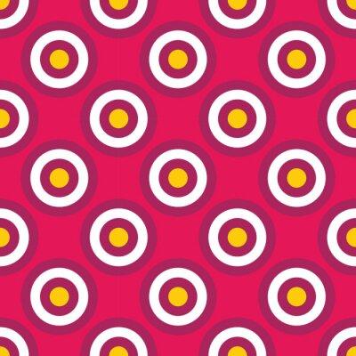 Carta da parati Vettore moderno senza soluzione di continuità colorato circoli geometria modello, colore di sfondo astratto geometrica, cuscino di stampa multicolore, retro tessitura, design di moda pantaloni a vita