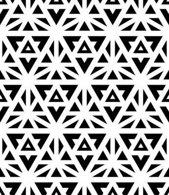 Carta da parati Vettore moderno senza soluzione di modello geometria sacra, stampa tessile in bianco e nero, texture astratta, fashion design in bianco e nero