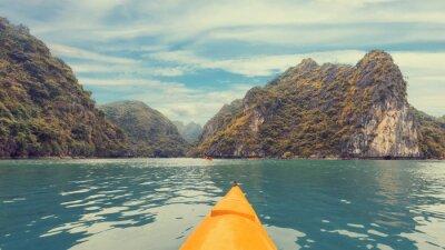 Carta da parati Viaggio in kayak colorato
