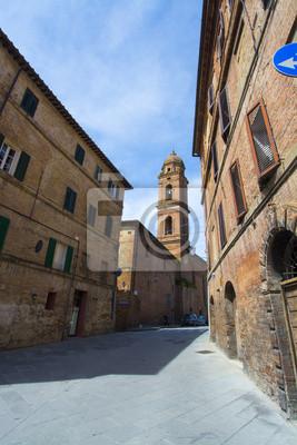 Carta da parati Vicolo a Siena, Toscana, Italia