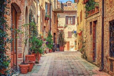 Carta da parati Vicolo nel centro storico Toscana Italia