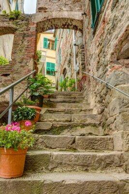 Carta da parati Vicolo nella vecchia città italiana Liguria Italia