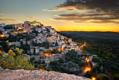 Carta da parati village de Gordes-en-provence