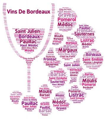 Carta da parati Vino della parola nube Bordeaux