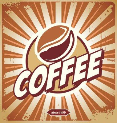 Carta da parati Vintage Coffee Sign