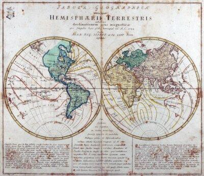 Carta da parati vintage map