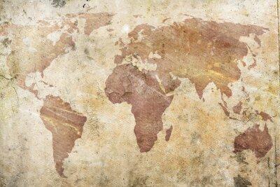 Carta da parati Vintage mappa del mondo