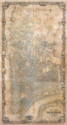 Carta da parati Vintage mappa di New York