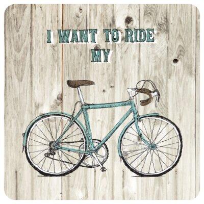 Carta da parati Vintage posters disegnati a mano bicicletta