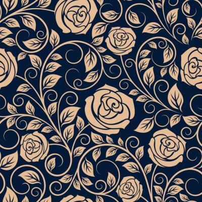 Carta da parati Vintage Rose fiori seamless pattern
