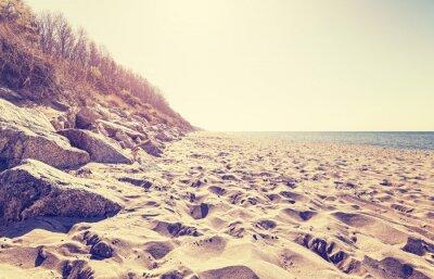 Carta da parati Vintage spiaggia tonica al tramonto.