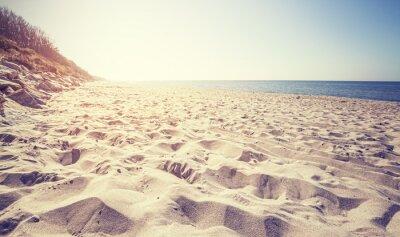 Carta da parati Vintage spiaggia tonica al tramonto, Rewal in Polonia.