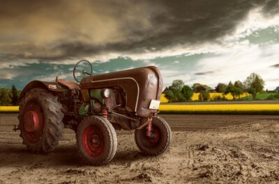 Carta da parati Vintage Tractor