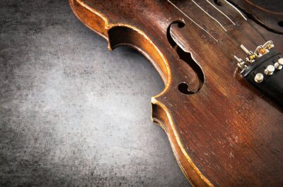 Carta da parati Violin music instrument of orchestra closeup